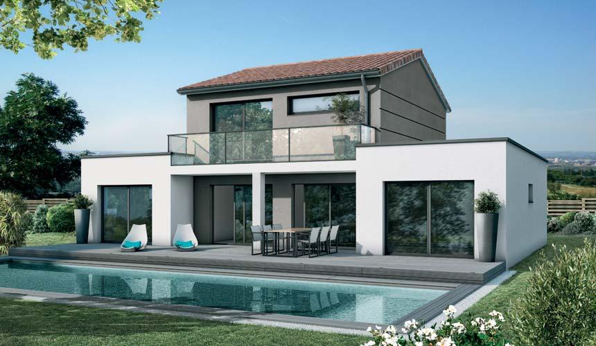 Mod le maison guggenheim maisons sanem constructeur de for Projet maison contemporaine